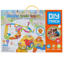 Boy Gift Plastic Blocks Toy Train Track Educational Toy